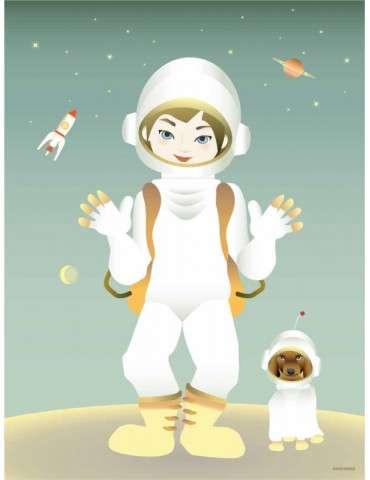 Vissevasse plakat The astronaut 30x40