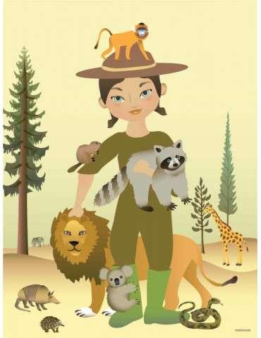 Vissevasse plakat The zookeeper 30x40