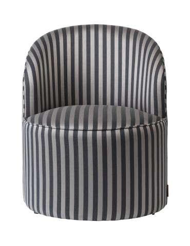 Cozy Living Effie loungestol stribet grå