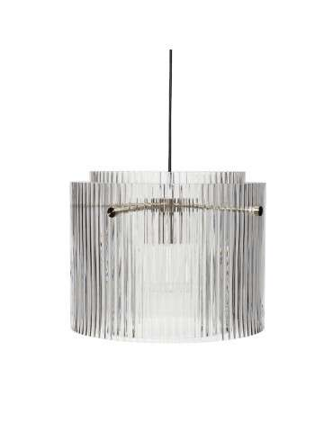 Hübsch Loftslampe Nikkel og klar glas