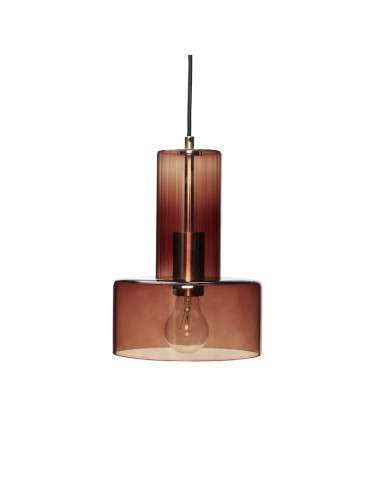 Hübsch Lampe brunt glas H27 cm Ø20 cm