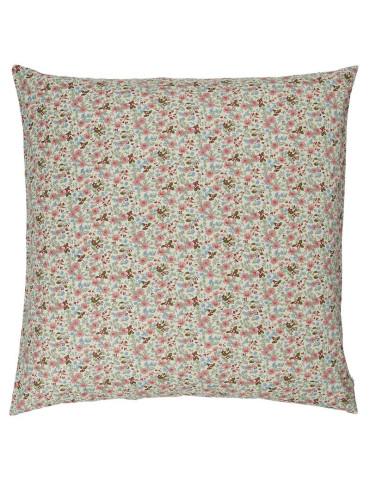 Ib Laursen Pude med rosa, grønne og blå blomster B60 cm L 60 cm